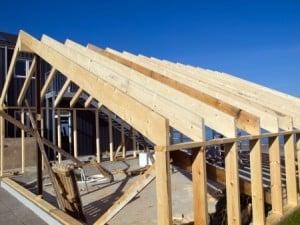charpente traditionnelle en construction