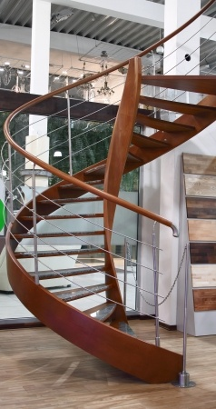 escalier en colimacon bois