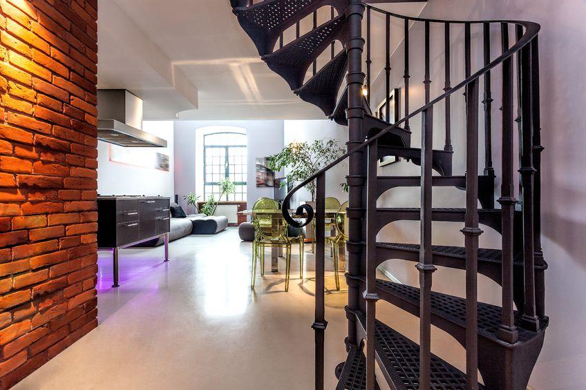 escalier en colimacon metallique