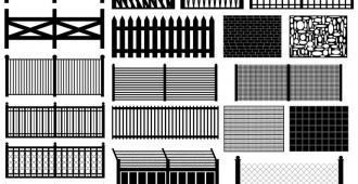 types de clôture (grillage, béton, bois …)
