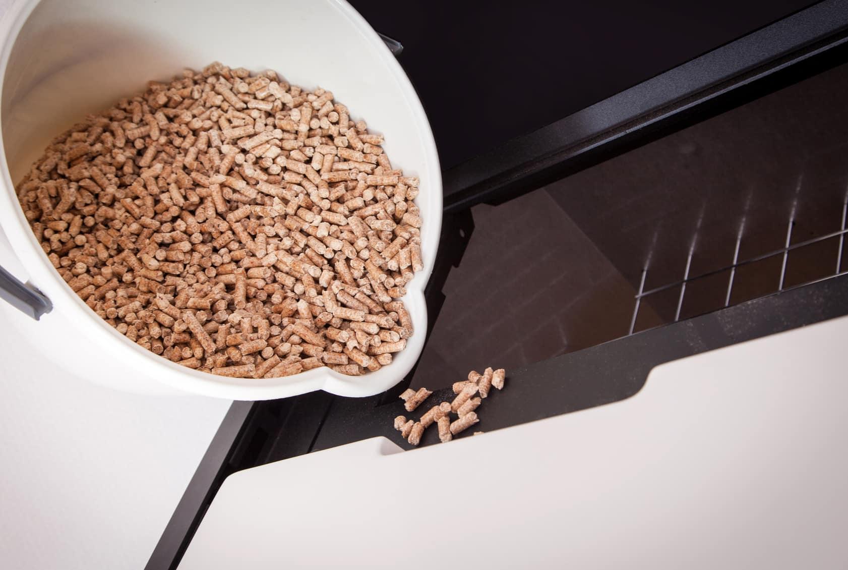 Alimentation chaudière à granulés