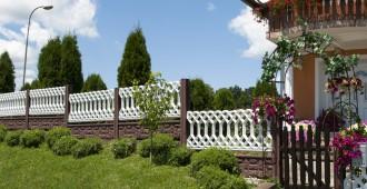 clôture rigide fraichement posée