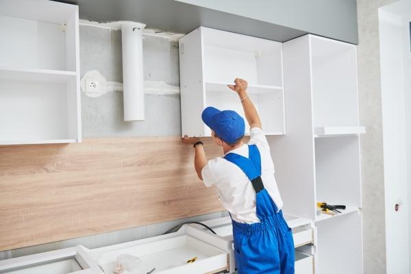 Le prix d'installation de meubles de cuisine