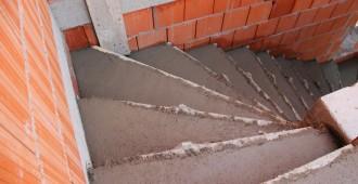Escalier en béton maçonné