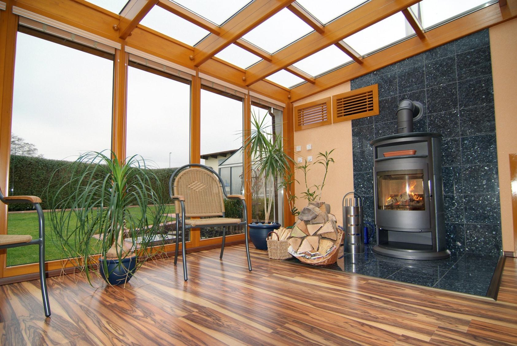 charpente bois veranda