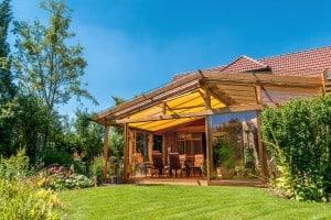grande véranda bois extension