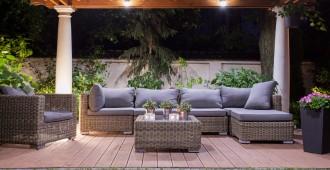 Terrasse bois avec salon