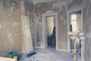 préparation d'un mur