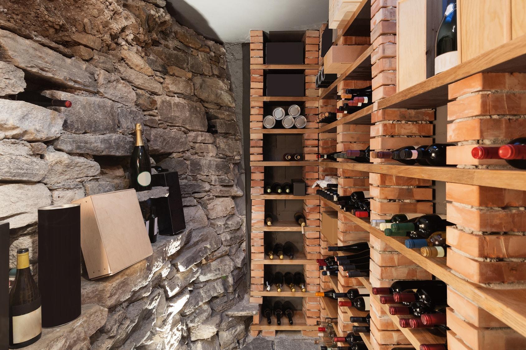 aménagement d'une cave à vin