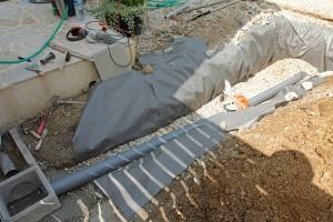 Coût d'un drainage de l'eau de pluie