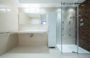 douche avec receveur dans SDB