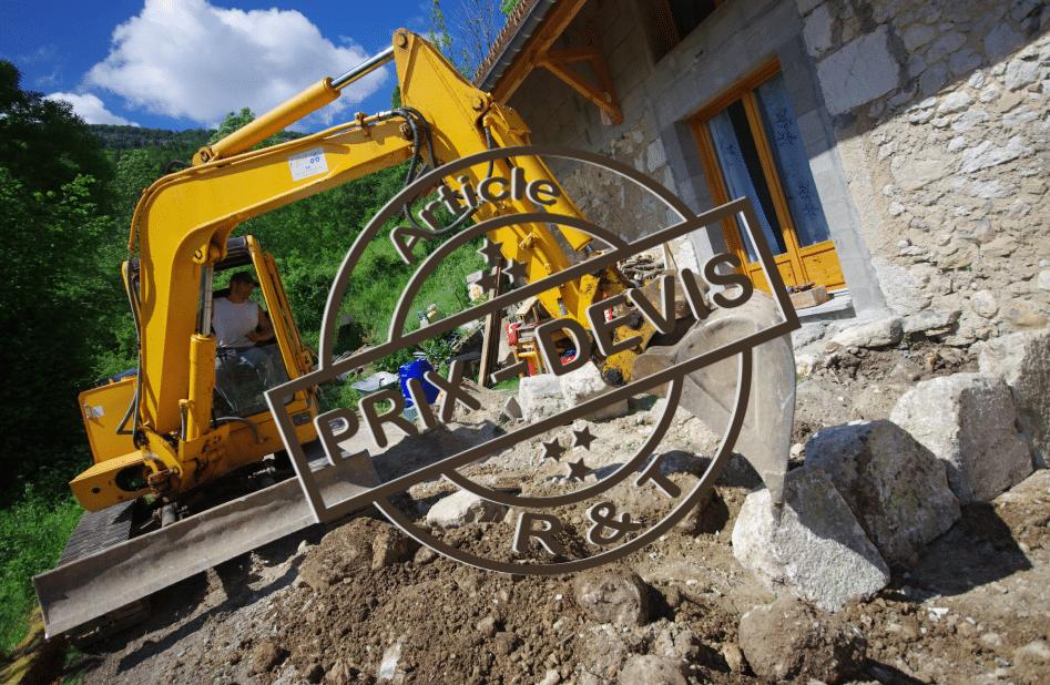 prix de travaux de terrassement et exemple de devis