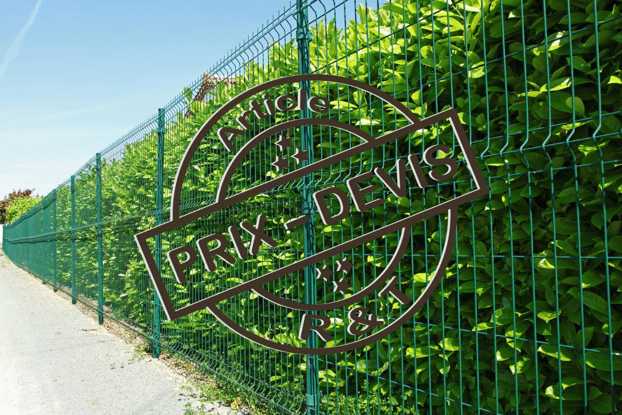 Prix de pose de clôture grillage et exemple de devis