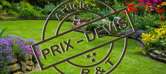 Guide en r novation et devis travaux r t for Tarif jardinier entretien