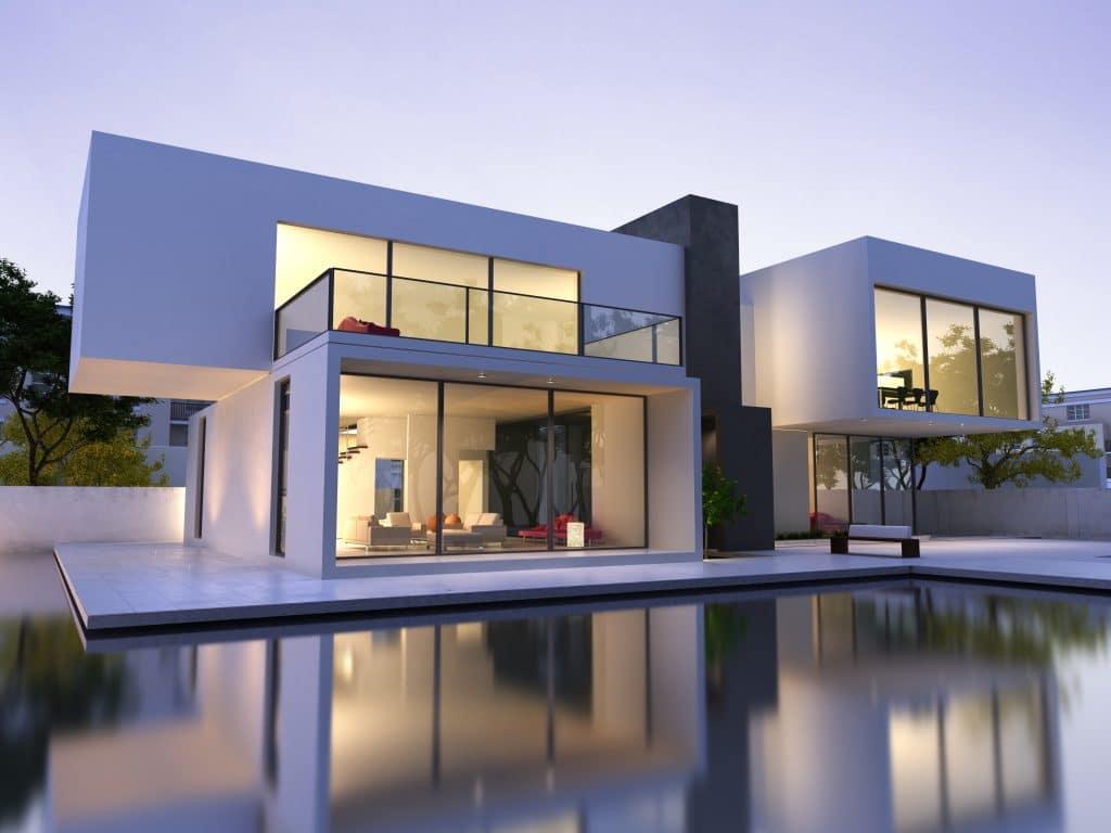 prix d une maison contemporaine et de sa construction. Black Bedroom Furniture Sets. Home Design Ideas