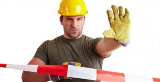 suspension travail sur un chantier