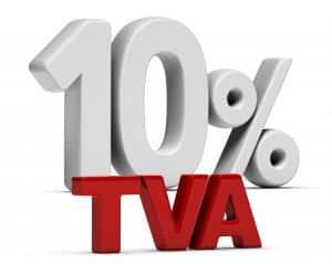 TVA 10% dans le bâtiment
