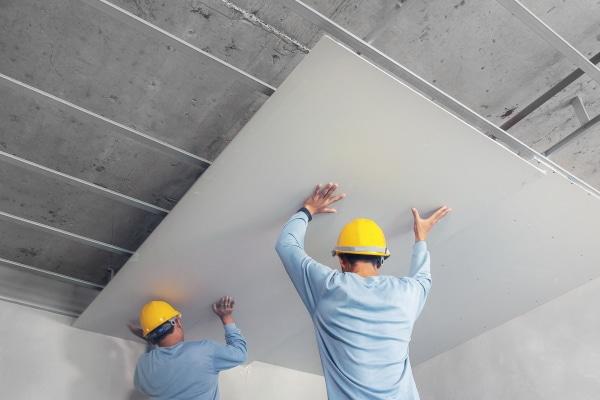 Plaquiste, plaques de plâtre et faux plafond