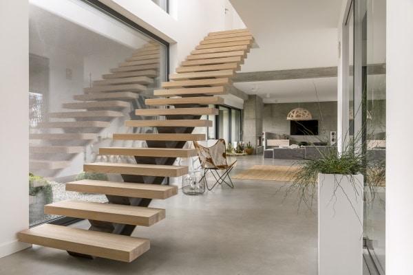 Pose d'un escalier