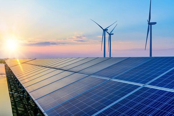 Panneau solaire et éolienne