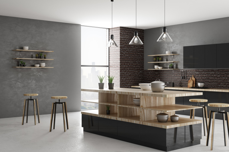 Cuisine équipée moderne et minimal