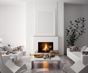 Salon contemporain à la décoration moderne