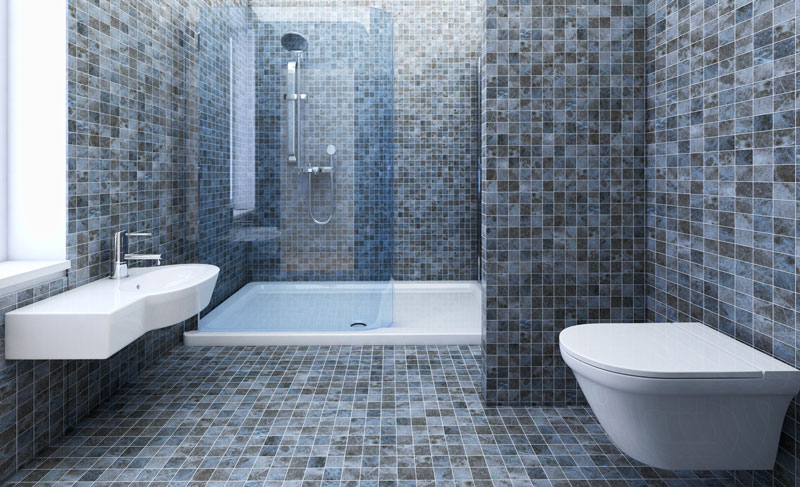 Carrelage mosaïque de salle de bain moderne