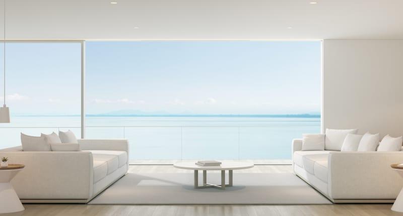 Décoration moderne pour un séjour minimaliste