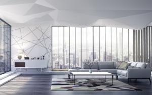 Idée de salon design et urbain