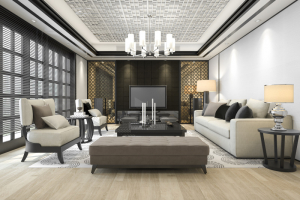 Salon design et moderne