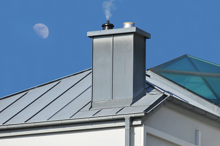 Prix de la pose de toiture en zinc