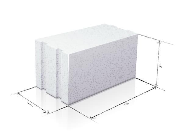 Brique de béton cellulaire