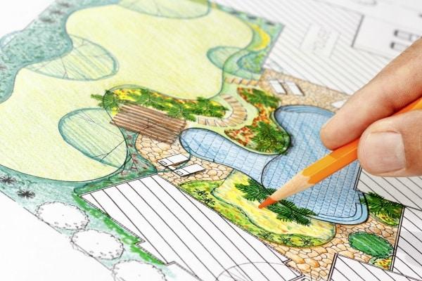 Réaliser le plan d'un jardin