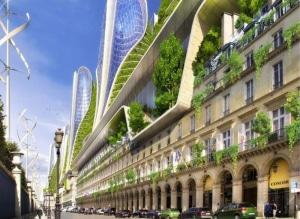 Rue Rivoli Paris Futur 2050