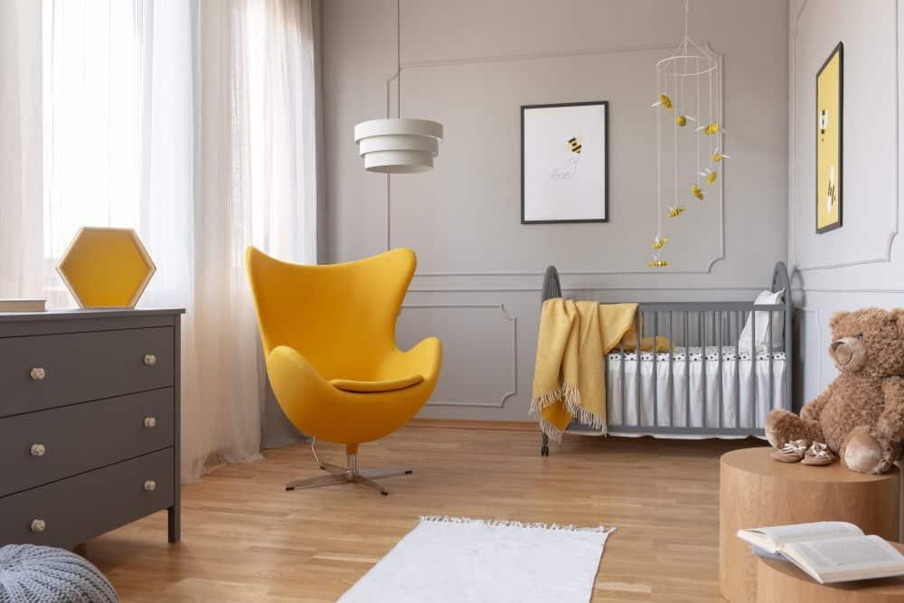 Chambre d'enfant avec les couleurs pantone