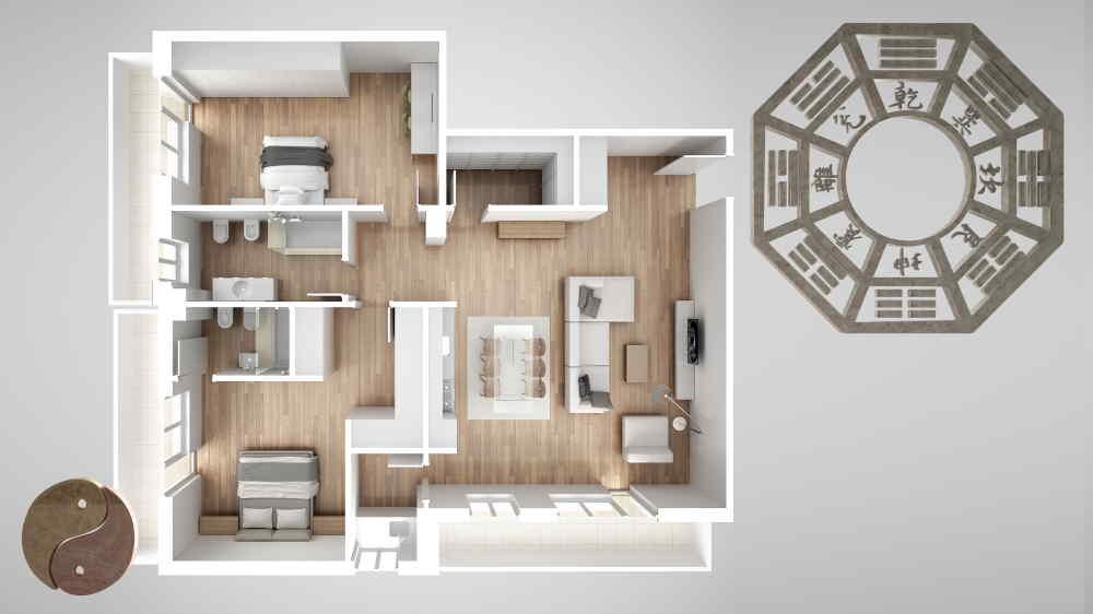 Maison selon le Feng Shui