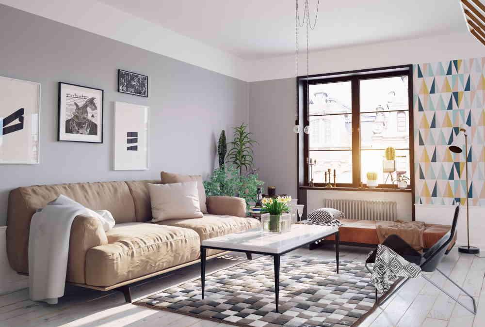 Décoration de salon style scandinave