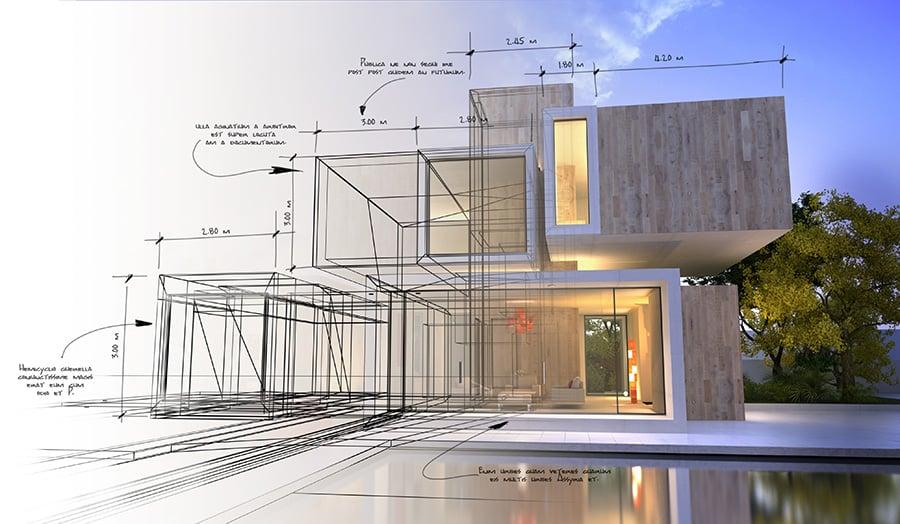 Prix de construction d'une maison contemporaine