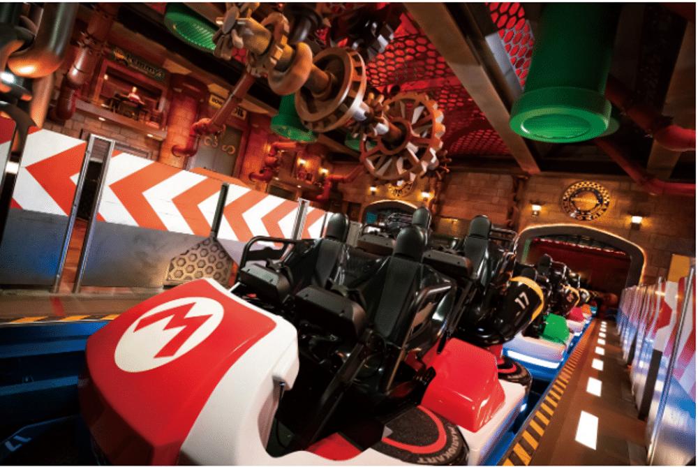 Rollercoaster dans le parc Super Nintendo World au Japon