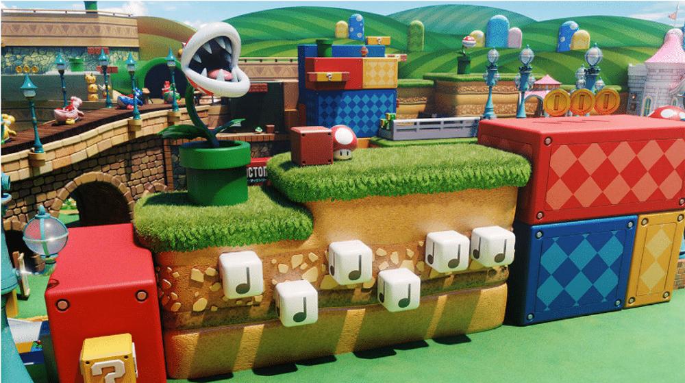 Vue du parc Super Mario World