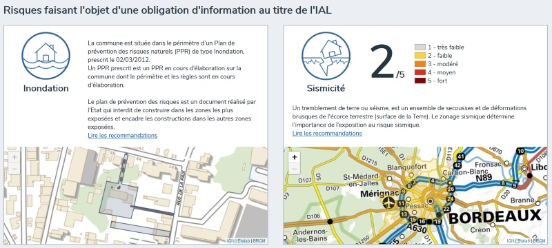 Olbigation d'information des locataiers et acquéreurs