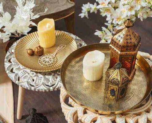 Objets de décoration style orientale