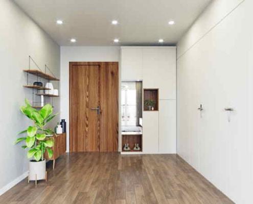 Entrée de maison moderne