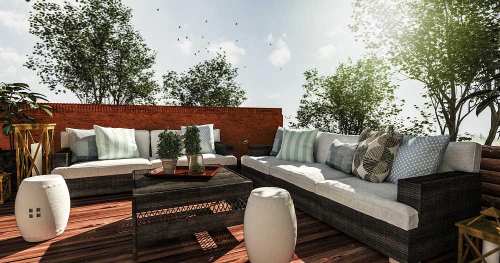 Idée de décoration d'une terrasse