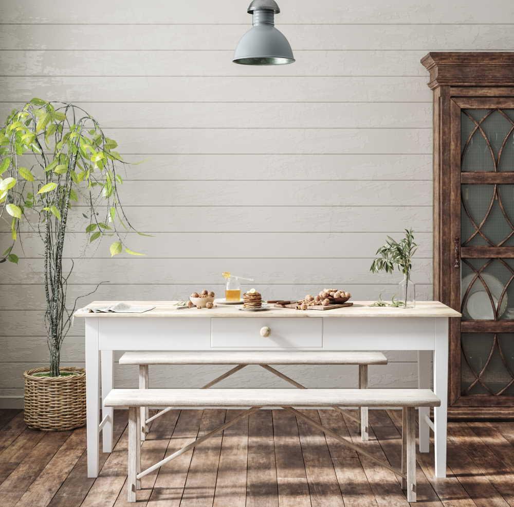 Salle à manger dans une maison style décoration campagne