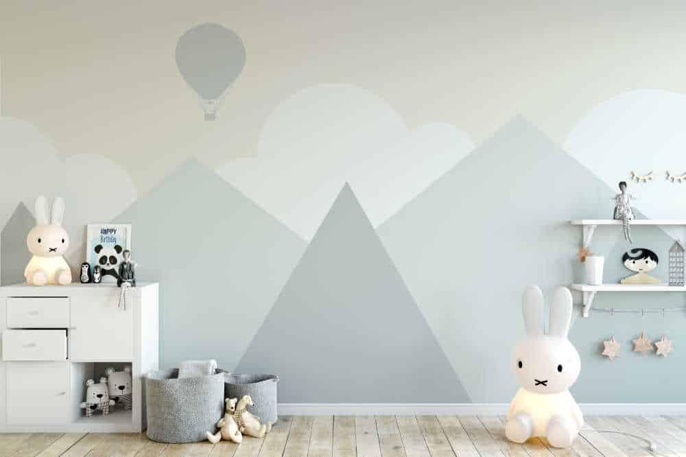 Décoration d'une chambre d'enfant avec papier peint