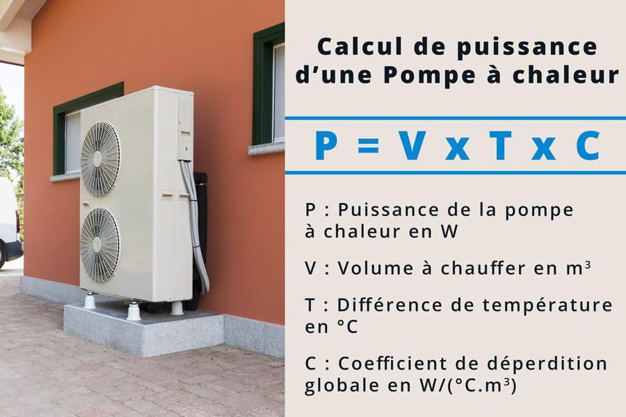 calcul de puissance de pompe à chaleur