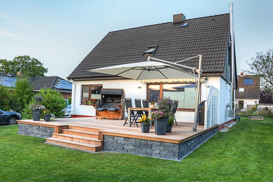 Prix de la construction d'une terrasse en bois