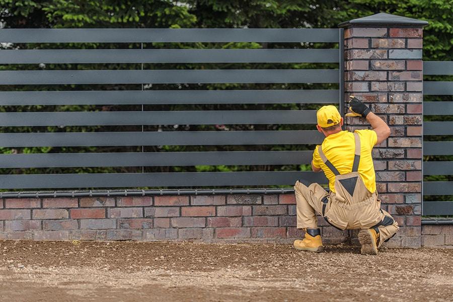 Tarif de la pose d'un clôture
