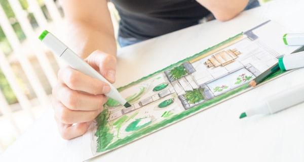 Techniques pour dessiner un jardin